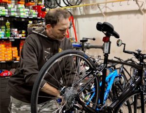 Tim Moore works as a bike technician at Foster's Sports Center, Ottawa's oldest bike shop.